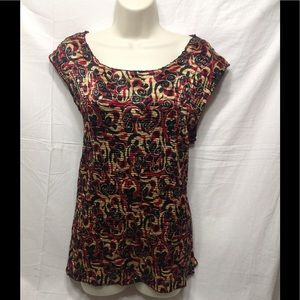 Women's size 1X CASUAL CORNER ANNEX patterned top